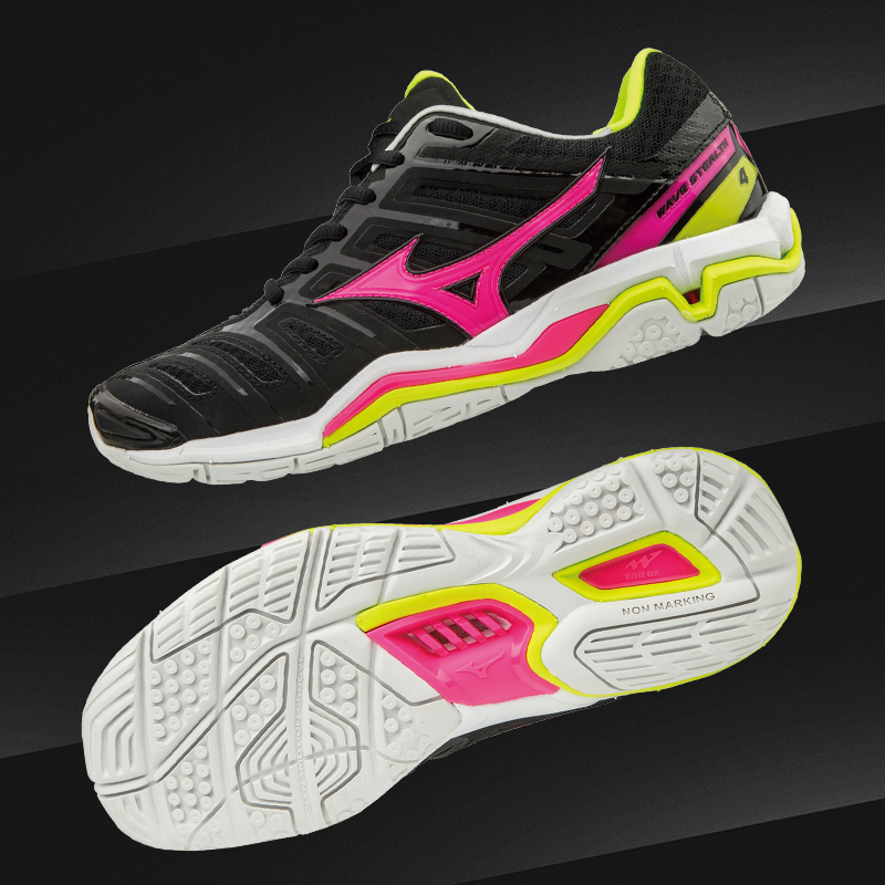 wave stealth netball court shoes